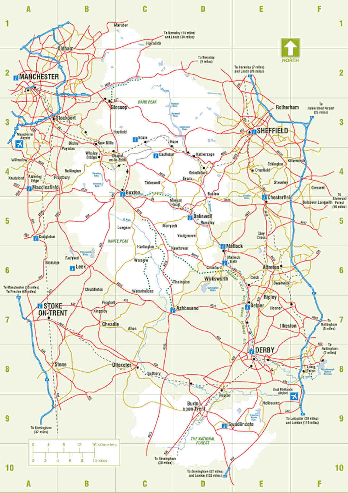 Peak District Map On The Old Glossop Official Websit